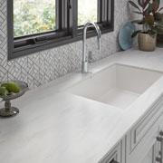 Solid Surface | Beige Travertine Contemporary Kitchen