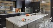 Dusk Ice | Solid Surface Kitchen | the look of quartz with a touch of sparkle from mirror chips