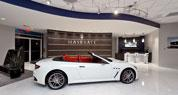 Maserati of Richmond - Curved Feature Wall in RE-COVER Laminate