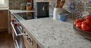 Santiago Quartz | Patterned Tile Kitchen