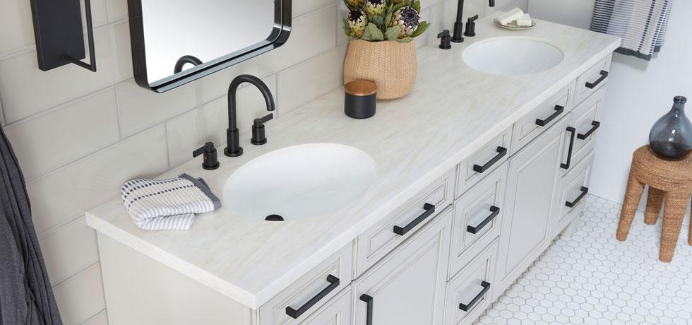 Solid Surface | Golden Sail Double Vanity Countertop