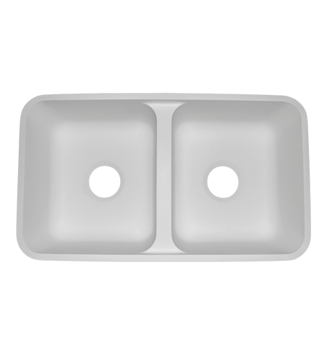 Equal Double Bowl AD1630 Sinks Countertops