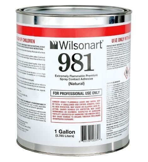 Wilsonart® 981 Reduced Deflection Spray Grade Contact Adhesive WA-981 Adhesive Countertops